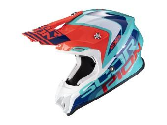 Crosshelm Scorpion VX 16 Air Nation grün blau rot MX Motocross