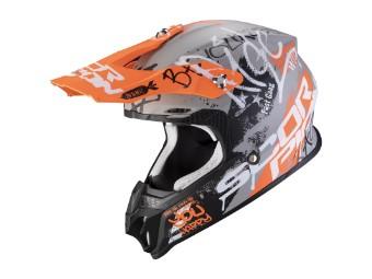 Crosshelm Scorpion VX 16 Air Oratio grau orange matt MX Motocross