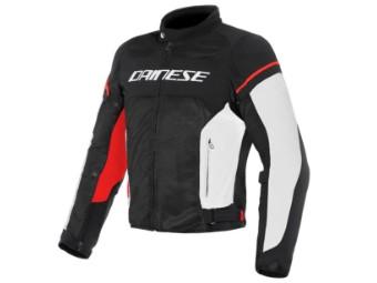 Motorradjacke Dainese Air Frame D1 schwarz weiß rot