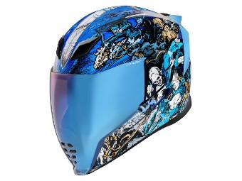Helm Icon Airflite 4Horsemen blau