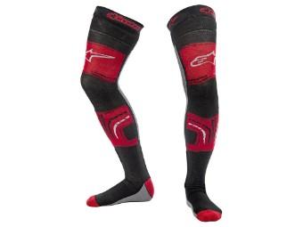 Socken Alpinestars Knee Brace Socks Unterziehstrümpfe rot grau schwarz