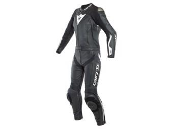 zweiteiler Lederkombi Dainese Avro D-Air Lady Airbag Suit schwarz weiß