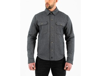 Jacke Rokker Boston Rider Shirt Grey