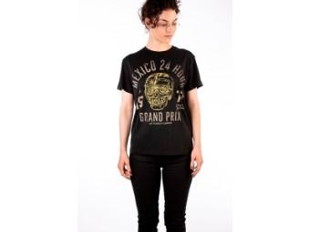 T-Shirt Rokker Mexico Loose Lady schwarz