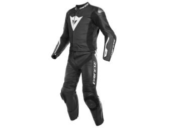 zweiteiler Lederkombi Dainese Avro D-Air Airbag Suit schwarz weiß
