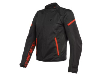 Motorradjacke Dainese Bora Air Tex Jacket Black Fluo Red