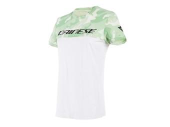 T-Shirt Dainese Camo Tracks Lady Grün Weiß