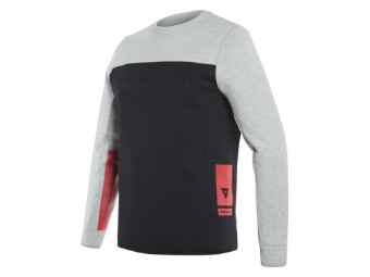 Sweatshirt Dainese Contrast Pullover black melange grey