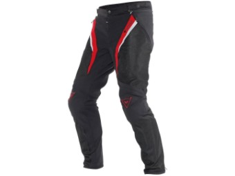 Motorradhose Dainese Drake Super Air Pants schwarz rot weiß