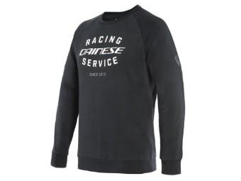 Pullover Dainese Paddock Sweatshirt schwarz weiß