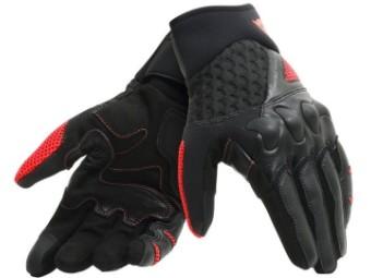 Motorradhandschuhe Dainese X-Moto Gloves schwarz rot fluo