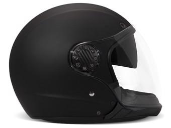 A.S.R. Matt Black schwarz matt Modular Helm Motorradhelm P/J Geprüft