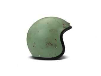 Vintage Handmade Rust Open Face Helm Jethelm Motorradhelm