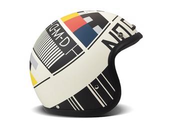 Vintage No Signal weiß Open Face Helm Jethelm Motorradhelm