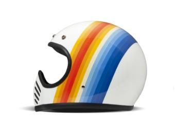 Helm DMD Seventyfive Eighty weiß blau gelb