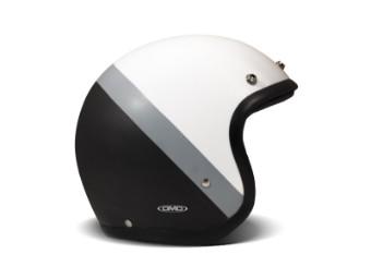 Vintage Dark Side Open Face Helm Jethelm Motorradhelm weiß grau schwarz