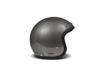 Vintage Solid Grey grau Open Face Helm Jethelm Motorradhelm