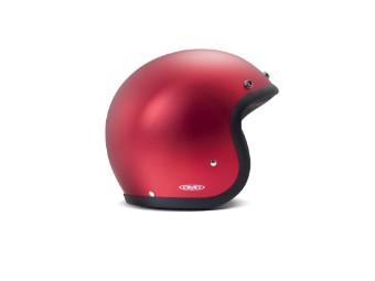 Vintage Metallic Red rot matt Open Face Helm Jethelm Motorradhelm
