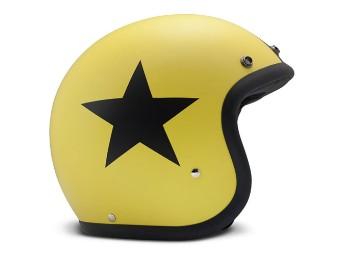 Vintage Star Yellow gelb matt Open Face Helm Jethelm Motorradhelm