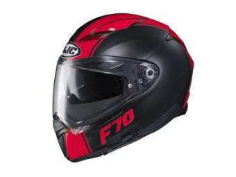Motorradhelm HJC F70 Mago MC1SF schwarz rot matt