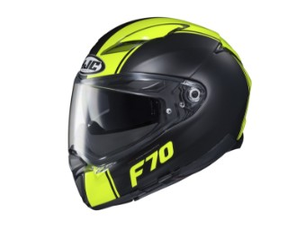 Motorradhelm HJC F70 Mago MC4HSF schwarz neongelb matt
