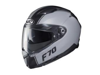 Motorradhelm HJC F70 Mago MC5SF schwarz grau matt
