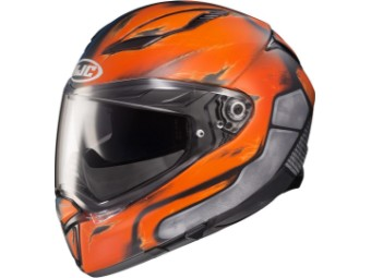 Motorradhelm HJC F70 Deathstroke MC27SF blau orange matt