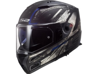 Klapphelm LS 2 FF324 Metro Evo Buzz P/J matt black titanium blue