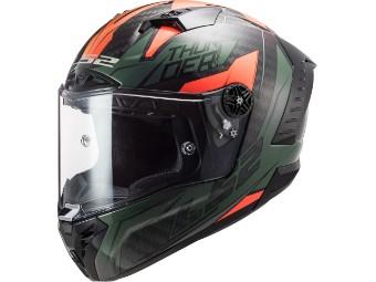 Helm LS2 FF805 Thunder C Chase Carbon green orange