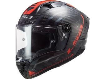 Helm LS2 FF805 Thunder C Sputnik Carbon black red