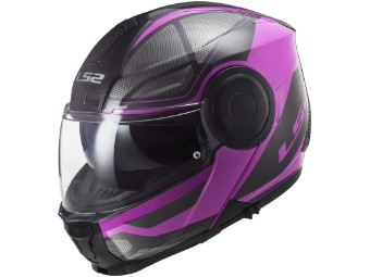 Klapphelm LS2 FF902 Scope Axis Pink schwarz pink matt