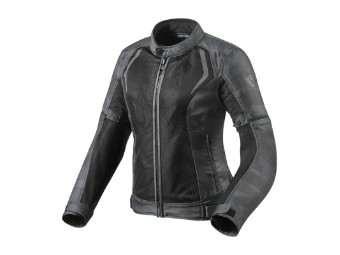 Motorradjacke Revit Torque Ladies schwarz camo grau