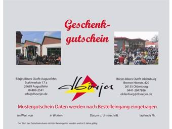 Gutschein | Geschenkgutschein | Börjes Bikers Outfit