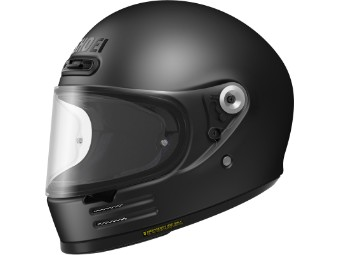 Glamster Matt Black schwarz matt Motorradhelm Retro Helm