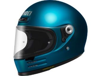 Glamster Black blau glanz Motorradhelm Retro Helm
