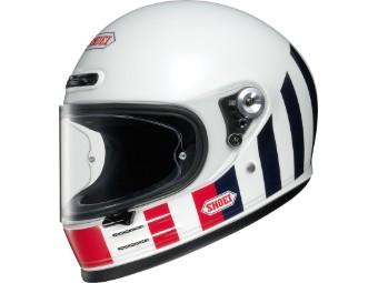 Glamster Resurrection TC10 weiß schwarz Motorradhelm Retro Helm
