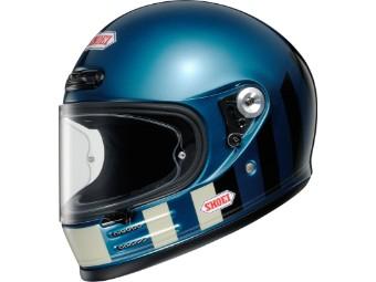 Glamster Resurrection TC2 blau schwarz Motorradhelm Retro Helm