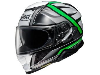 Motorradhelm Shoei GT Air II Haste TC 4 grün