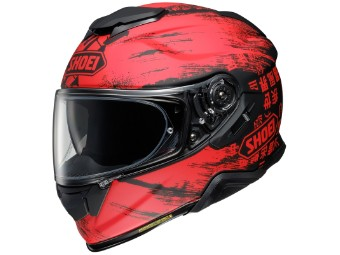 Motorradhelm Shoei GT Air II Ogre TC 1 schwarz rot matt