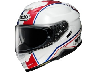 Motorradhelm Shoei GT Air II Panorama TC 10 weiß blau rot