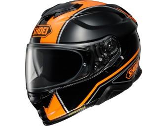 Motorradhelm Shoei GT Air II Panorama TC 8 schwarz orange