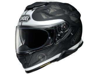 Motorradhelm Shoei GT Air II Reminice TC 5 schwarz weiß matt