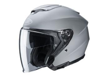 i30 Solid Nardo Grey Jethelm mit Visier Motorradhelm grau