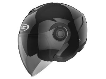 Helm HJC i40 Solid Metal Black schwarz glanz