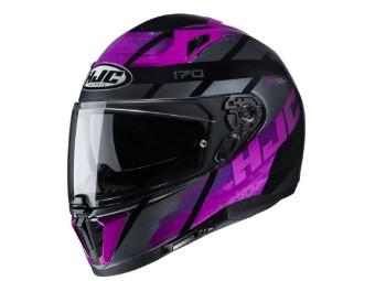 Motorradhelm HJC i70 Reden MC8 schwarz pink