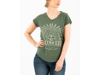 T-Shirt Rokker Indian Bonnet Lady olive