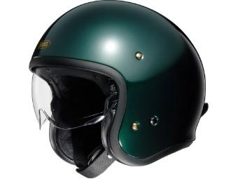 J.O british green Open Face Helm Jethelm Motorradhelm