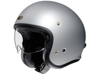 J.O silber matt Open Face Helm Jethelm Motorradhelm