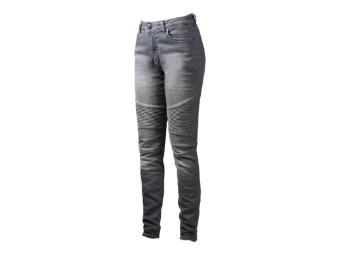 Motorradjeans John Doe Betty Biker Jeans XTM light grey