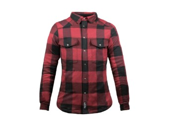 Lumberjack Shirt John Doe Motoshirt XTM Women schwarz rot